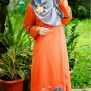 Gamis Nibras NB53-Orange
