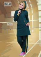 Baju Olahraga Muslimah BMS-01-Green