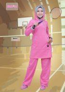 Baju Olahraga Muslimah BMS-01-Pink