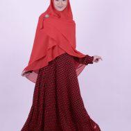Gamis Nibras NS 23 Merah