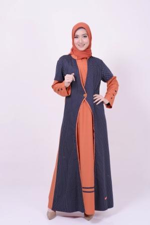 Gamis Nibras NB 147 Orange