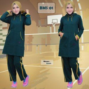Baju Olahraga Muslimah BMS 01 Green