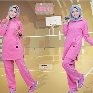 Baju Olahraga Muslimah BMS 01 Pink