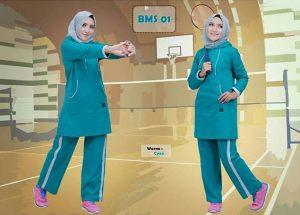 Baju Olahraga Muslimah BMS 01 Tosca