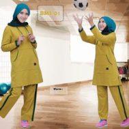 Baju Olahraga Muslimah BMS 01 Yellow
